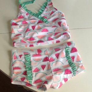 Cute watermelon girls bathing suit